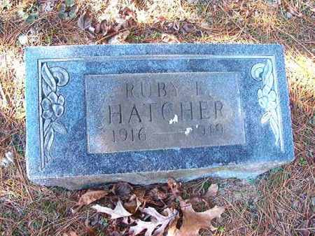 HATCHER, RUBY E - Dallas County, Arkansas | RUBY E HATCHER - Arkansas Gravestone Photos