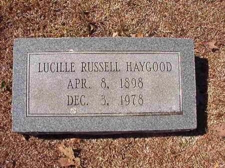 RUSSELL HAYGOOD, LUCILLE - Dallas County, Arkansas | LUCILLE RUSSELL HAYGOOD - Arkansas Gravestone Photos