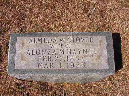 STOVER HAYNIE, ALMEDA W - Dallas County, Arkansas | ALMEDA W STOVER HAYNIE - Arkansas Gravestone Photos