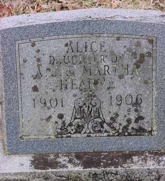 HEARNE, ALICE - Dallas County, Arkansas | ALICE HEARNE - Arkansas Gravestone Photos