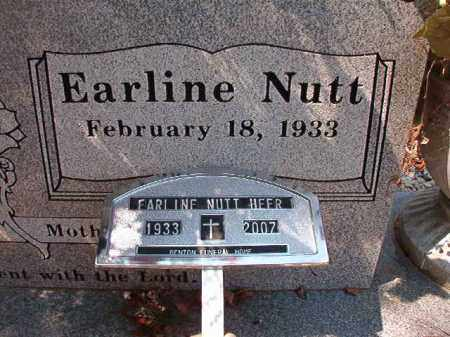 NUTT HEER, EARLINE - Dallas County, Arkansas | EARLINE NUTT HEER - Arkansas Gravestone Photos