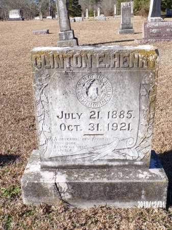 HENRY, CLINTON E - Dallas County, Arkansas | CLINTON E HENRY - Arkansas Gravestone Photos