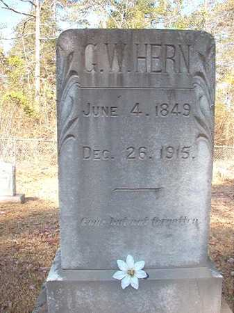 HERN, G W - Dallas County, Arkansas | G W HERN - Arkansas Gravestone Photos