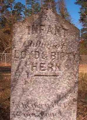 HERN, INFANT - Dallas County, Arkansas | INFANT HERN - Arkansas Gravestone Photos