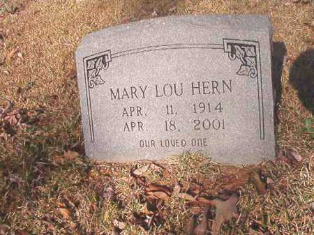 HERN, MARY LOU - Dallas County, Arkansas | MARY LOU HERN - Arkansas Gravestone Photos
