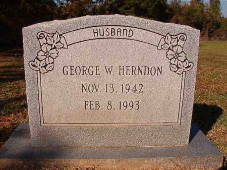 HERNDON, GEORGE W - Dallas County, Arkansas | GEORGE W HERNDON - Arkansas Gravestone Photos