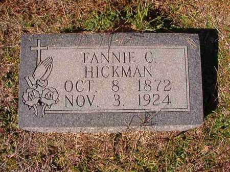 HICKMAN, FANNIE C - Dallas County, Arkansas | FANNIE C HICKMAN - Arkansas Gravestone Photos