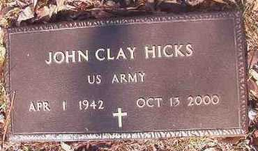 HICKS (VETERAN), JOHN CLAY - Dallas County, Arkansas | JOHN CLAY HICKS (VETERAN) - Arkansas Gravestone Photos