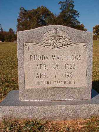 HIGGS, RHODA MAE - Dallas County, Arkansas | RHODA MAE HIGGS - Arkansas Gravestone Photos