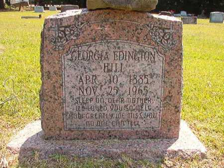 EDINGTON HILL, GEORGIA - Dallas County, Arkansas | GEORGIA EDINGTON HILL - Arkansas Gravestone Photos