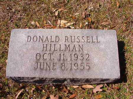 HILLMAN, DONALD RUSSELL - Dallas County, Arkansas | DONALD RUSSELL HILLMAN - Arkansas Gravestone Photos