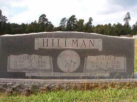 HILLMAN, BESSIE F - Dallas County, Arkansas | BESSIE F HILLMAN - Arkansas Gravestone Photos