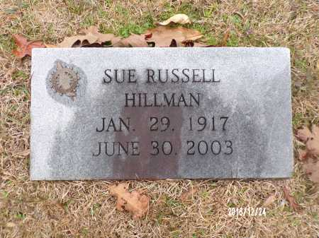 RUSSELL HILLMAN, SUE - Dallas County, Arkansas | SUE RUSSELL HILLMAN - Arkansas Gravestone Photos