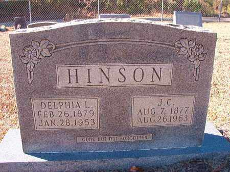 HINSON, J C - Dallas County, Arkansas | J C HINSON - Arkansas Gravestone Photos