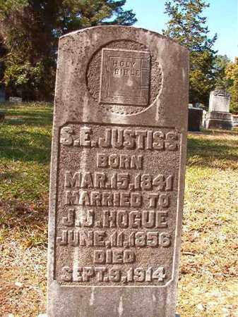 JUSTISS HOGUE, S E - Dallas County, Arkansas | S E JUSTISS HOGUE - Arkansas Gravestone Photos