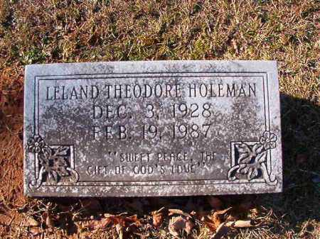 HOLEMAN, LELAND THEODORE - Dallas County, Arkansas | LELAND THEODORE HOLEMAN - Arkansas Gravestone Photos