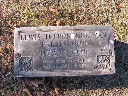 HOLEMAN, LEWIS THERON - Dallas County, Arkansas | LEWIS THERON HOLEMAN - Arkansas Gravestone Photos