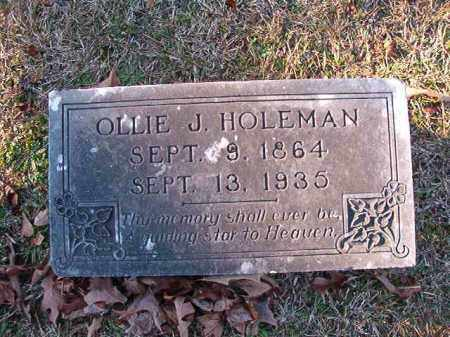 HOLEMAN, OLLIE J - Dallas County, Arkansas | OLLIE J HOLEMAN - Arkansas Gravestone Photos