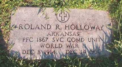 HOLLOWAY (VETERAN WWII), ROLAND R - Dallas County, Arkansas | ROLAND R HOLLOWAY (VETERAN WWII) - Arkansas Gravestone Photos
