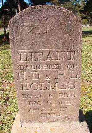 HOLMES, INFANT DAUGHTER - Dallas County, Arkansas | INFANT DAUGHTER HOLMES - Arkansas Gravestone Photos