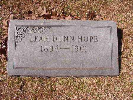 HOPE, LEAH - Dallas County, Arkansas | LEAH HOPE - Arkansas Gravestone Photos