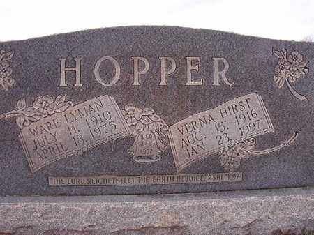 HOPPER, VERNA - Dallas County, Arkansas | VERNA HOPPER - Arkansas Gravestone Photos