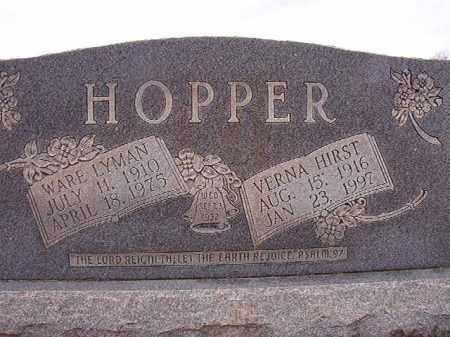 HIRST HOPPER, VERNA - Dallas County, Arkansas | VERNA HIRST HOPPER - Arkansas Gravestone Photos