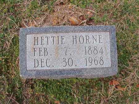 HORNE, HETTIE - Dallas County, Arkansas | HETTIE HORNE - Arkansas Gravestone Photos