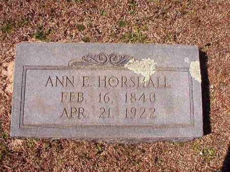 HORSHALL, ANN E - Dallas County, Arkansas | ANN E HORSHALL - Arkansas Gravestone Photos