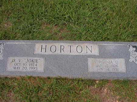 HORTON, VIRGINIA D - Dallas County, Arkansas | VIRGINIA D HORTON - Arkansas Gravestone Photos