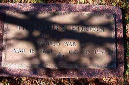 HORTON (VETERAN WWI), THADDEUS G - Dallas County, Arkansas | THADDEUS G HORTON (VETERAN WWI) - Arkansas Gravestone Photos