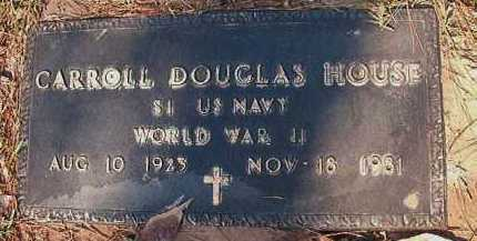 HOUSE (VETERAN WWII), CARROLL DOUGLAS - Dallas County, Arkansas | CARROLL DOUGLAS HOUSE (VETERAN WWII) - Arkansas Gravestone Photos