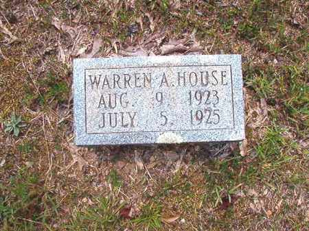 HOUSE, WARREN A - Dallas County, Arkansas | WARREN A HOUSE - Arkansas Gravestone Photos