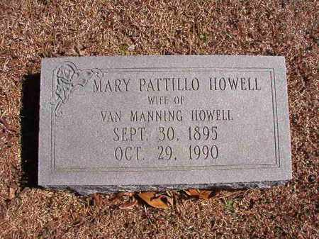 PATTILLO HOWELL, MARY - Dallas County, Arkansas | MARY PATTILLO HOWELL - Arkansas Gravestone Photos