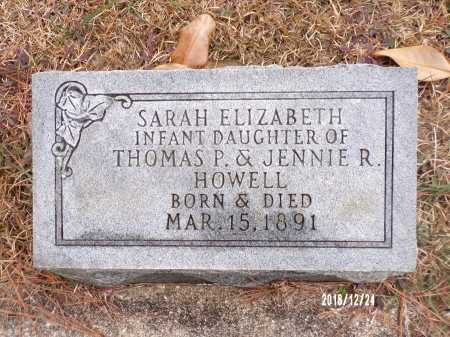 HOWELL, SARAH ELIZABETH - Dallas County, Arkansas | SARAH ELIZABETH HOWELL - Arkansas Gravestone Photos