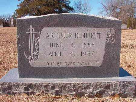 HUETT, ARTHUR D - Dallas County, Arkansas | ARTHUR D HUETT - Arkansas Gravestone Photos