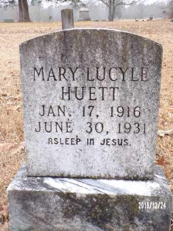 HUETT, MARY LUCYLE - Dallas County, Arkansas | MARY LUCYLE HUETT - Arkansas Gravestone Photos