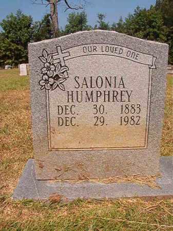 HUMPHREY, SALONIA - Dallas County, Arkansas | SALONIA HUMPHREY - Arkansas Gravestone Photos
