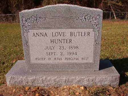 BUTLER HUNTER, ANNA LOVE - Dallas County, Arkansas | ANNA LOVE BUTLER HUNTER - Arkansas Gravestone Photos