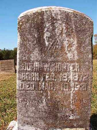 HUNTER, JOHN W - Dallas County, Arkansas | JOHN W HUNTER - Arkansas Gravestone Photos