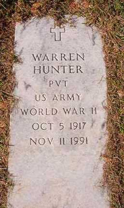 HUNTER (VETERANWWII), WARREN - Dallas County, Arkansas | WARREN HUNTER (VETERANWWII) - Arkansas Gravestone Photos