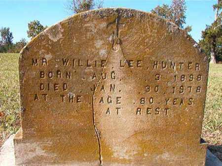 HUNTER, WILLIE LEE - Dallas County, Arkansas | WILLIE LEE HUNTER - Arkansas Gravestone Photos