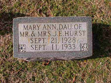 HURST, MARY ANN - Dallas County, Arkansas | MARY ANN HURST - Arkansas Gravestone Photos