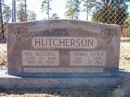 HUTCHERSON, THOMAS ELPHER - Dallas County, Arkansas | THOMAS ELPHER HUTCHERSON - Arkansas Gravestone Photos