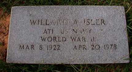 ISLER (VETERAN WWII), WILLARD A - Dallas County, Arkansas | WILLARD A ISLER (VETERAN WWII) - Arkansas Gravestone Photos