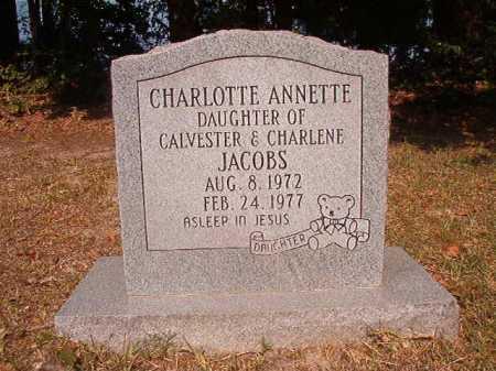 JACOBS, CHARLOTTE ANNETTE - Dallas County, Arkansas   CHARLOTTE ANNETTE JACOBS - Arkansas Gravestone Photos