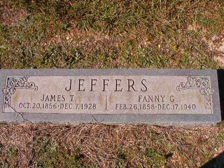 JEFFERS, FANNY G - Dallas County, Arkansas | FANNY G JEFFERS - Arkansas Gravestone Photos