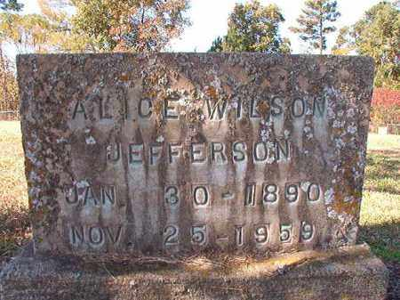 WILSON JEFFERSON, ALICE - Dallas County, Arkansas | ALICE WILSON JEFFERSON - Arkansas Gravestone Photos