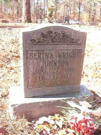 WRIGHT JOHNSON, BERTHA - Dallas County, Arkansas | BERTHA WRIGHT JOHNSON - Arkansas Gravestone Photos