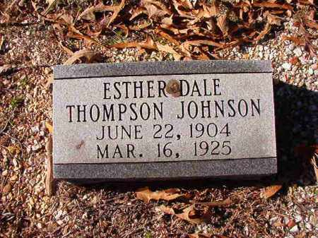 THOMPSON JOHNSON, ESTHER DALE - Dallas County, Arkansas | ESTHER DALE THOMPSON JOHNSON - Arkansas Gravestone Photos